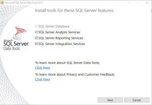 SSDT Install Screen