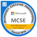 MCSE Data Management and Analytics Certified 2016